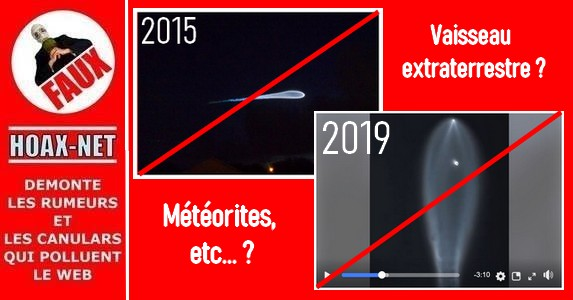 Non, ce halo lumineux n'était pas un OVNI, une météorite, … mais une fusée