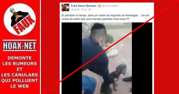 NON ce chien n'est pas maltraité par des migrants en Allemagne…