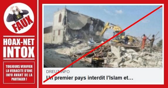 Non, l'Angola n'interdit pas l'islam et ne détruit pas les mosquées pour des raisons religieuses.