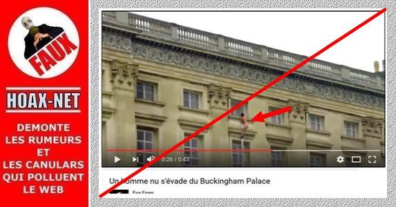 L'homme nu s'échappant du Palais de Buckingham n'était qu'une fiction !