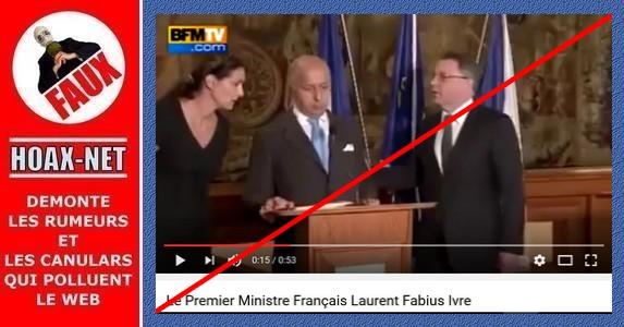 Non, Laurent Fabius n'était pas bourré comme un coing et n'avait pas trop bu de pinard !