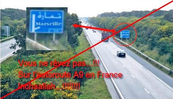 2016-Panneau autoroute en arabe--