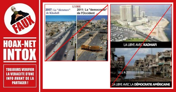Non, ces photos ne représentent pas l'AVANT / APRÈS Khadafi !