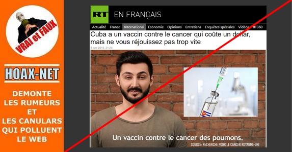 Vaccin contre le cancer du poumon mis au point à Cuba