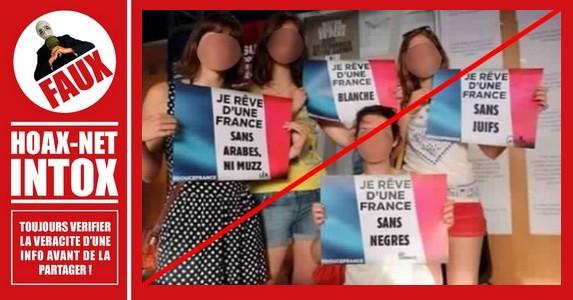 Non, ce n'est pas une photo de 4 jeunes femmes Racistes !