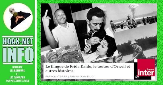 Le flingue de Frida Kahlo, le toutou d'Orwell et autres histoires de photos détournées.