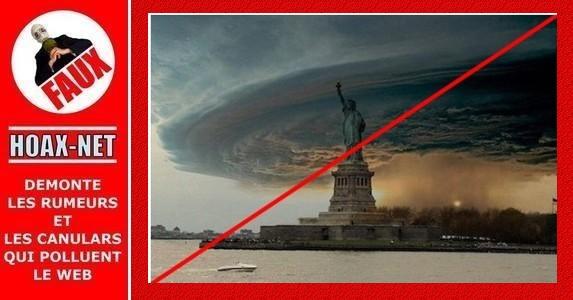 Quelques photos montages ou détournées attribuées à l'ouragan Sandy !