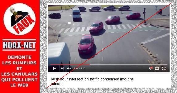 Non, ce n'est pas un trafic condensé à l'heure de pointe sans accident.
