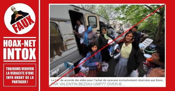 Non, la Caf ne favorise pas les Roms pour l'achat d'une caravane !