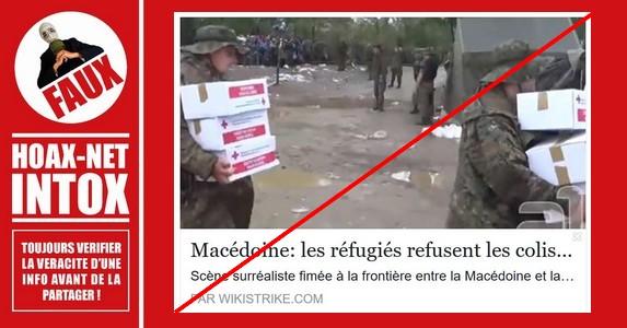Non, les réfugiés sur cette vidéo n'ont pas refusé de la nourriture non-halal