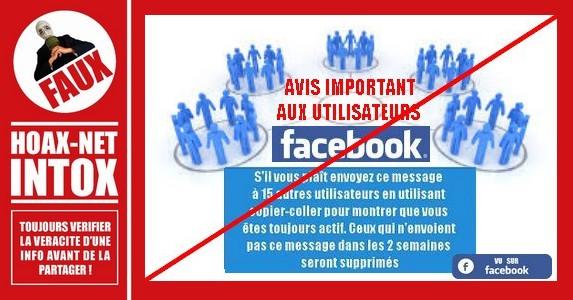 Facebook : pas de fermeture le 15 mars 2015 (ni un autre jour)