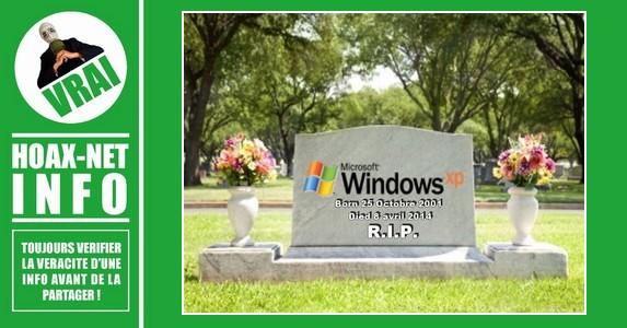 LA MORT DU WINDOWS XP APRÈS 13 ANS D'ACTIVITÉ.