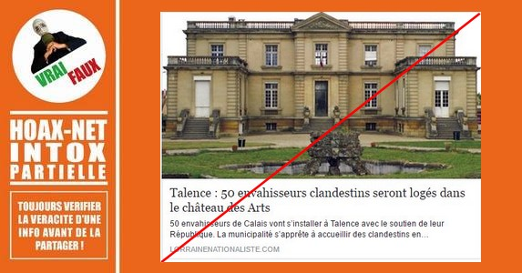 Non, 50 «envahisseurs clandestins» ne vont pas s'installer dans le château de Talence.