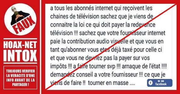 Non Le Fournisseur Internet N Est Pas Taxe Pour La Redevance