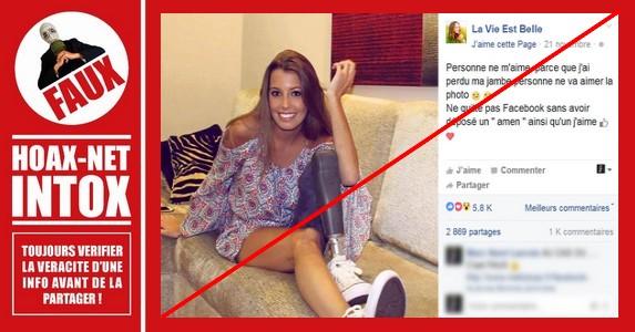Non, Béatrice Boistard n'est pas les nombreuses handicapées qu'elle prétend être sur Facebook !