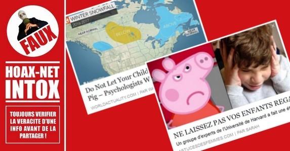 NON, le dessin animé et les produits dérivés «Peppa Pig» ne provoquent pas l'autisme chez les enfants.