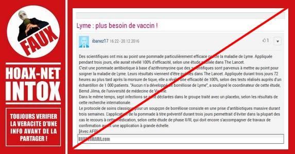 La pommade miracle contre la maladie de Lyme n'existe pas.