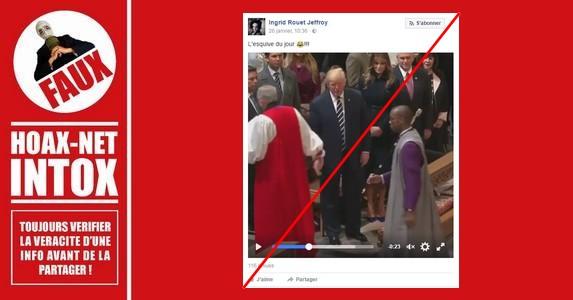 Pourquoi Donald Trump n'a pas serré la main de cette personne.