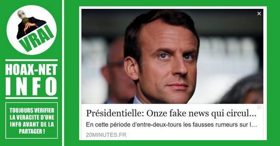 Onze fake news qui circulent sur Emmanuel Macron