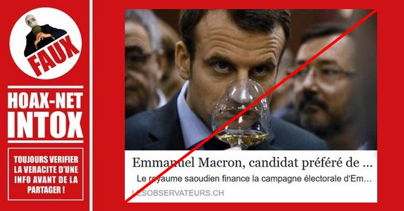 Non, Emmanuel Macron n'a pas été financé par l'Arabie Saoudite.