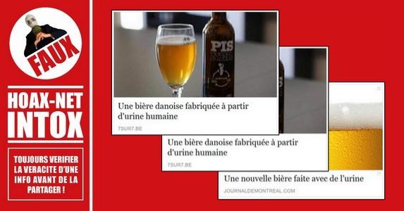 Non, la bière danoise «Pisner» n'est pas faite à base d'urine !
