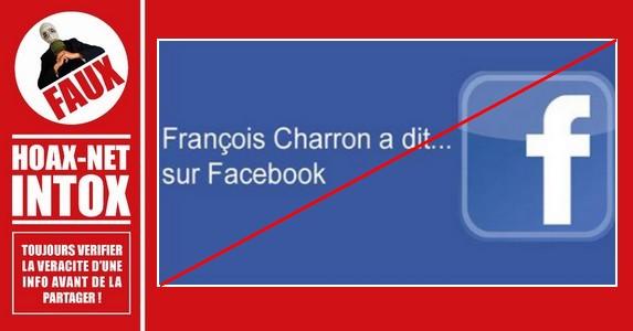 Méfiez-vous des messages affirmant que François Charron a dit…