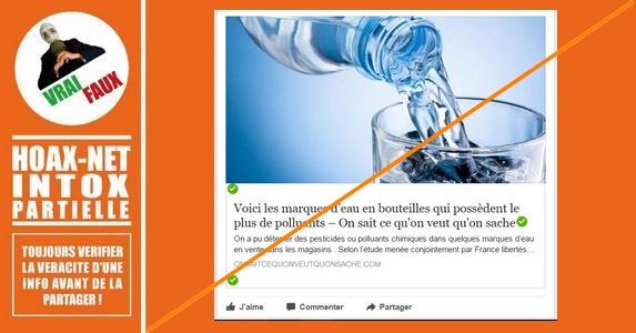 Polluants dans l'eau en bouteille : Expertises et démentis