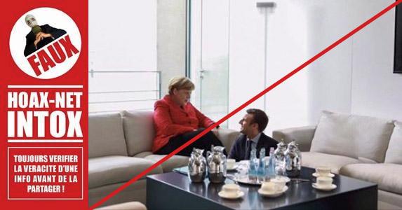 Un montage fake sur la rencontre Macron Merkel