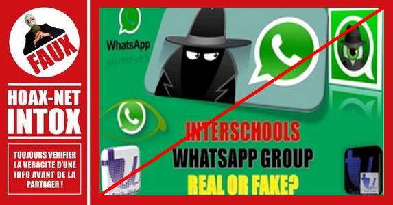 Un groupe WhatsApp intitulé «Interschools» avec sa connexion à ISIS est un canular