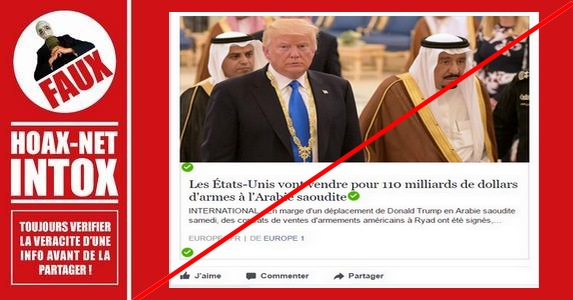 Des accords d'Obama au Fake de Trump : Vente de 110 milliards d'armes à l'Arabie saoudite