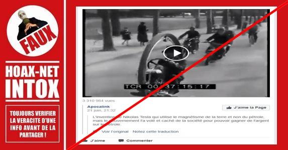 Non, le Monowheel n'est pas l'invention de Nikola Tesla