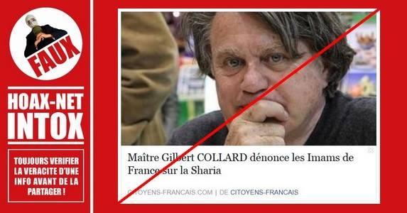 Non, le texte ne vient pas de M. Collard.