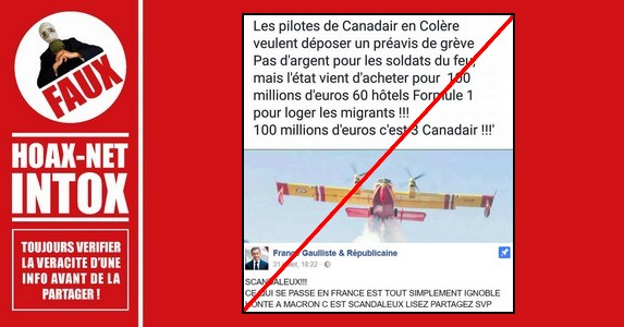 Non, l'État français n'a pas acheté pour 100 millions d'€ des hôtels pour loger les migrants.