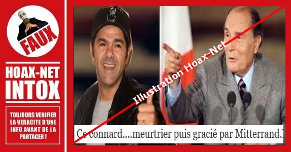 Non, Jamel Debbouze n'est pas un meurtrier qui a été gracié par François Mitterrand.