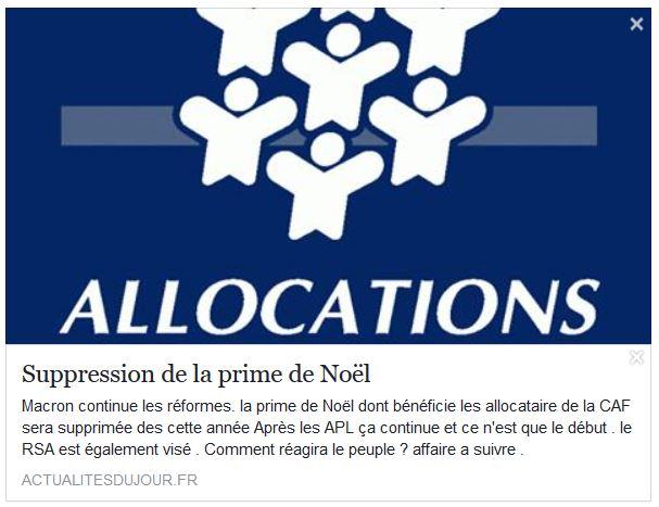 Non Il N Y Aura Pas De Suppression De La Prime De Noel