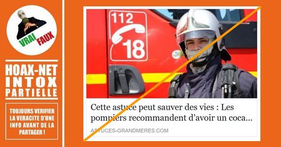 Éteindre un feu avec du coca c'est possible, mais pas recommandé par les pompiers.