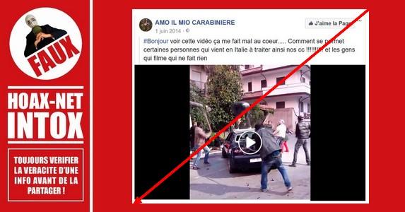 Non, des migrants n'ont pas détruit cette voiture de carabinieris en Italie.