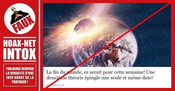 Non, la fin du monde n'est pas prévue pour le 23 septembre 2017 !