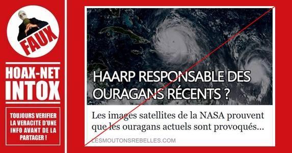 Non, les ouragans ne sont pas créés par l'homme.