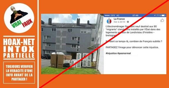 L'électroménager est bien destiné aux logements occupés par des migrants, MAIS …