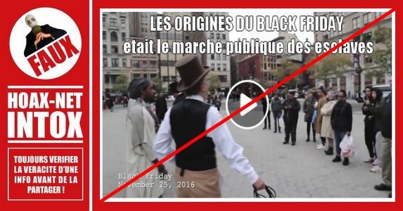 Non, l'origine du Black Friday ne désignait pas la braderie des esclaves sur le marché public !