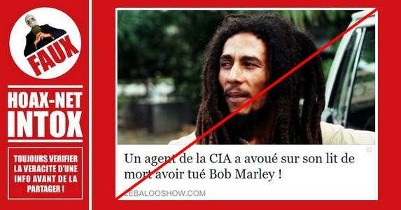 Non, Bob Marley n'a pas été exécuté par un agent de la C.I.A