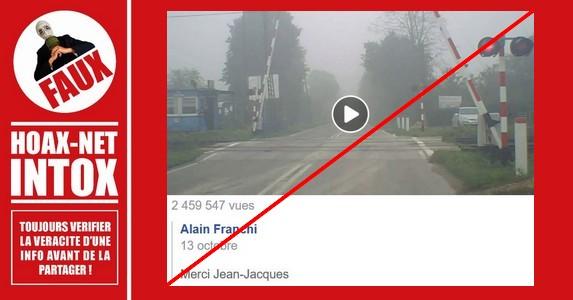 Non, ce passage ferroviaire n'est pas en France.
