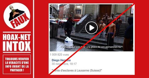 Non, ce n'est pas une vente d'esclaves à Lausanne en Suisse.
