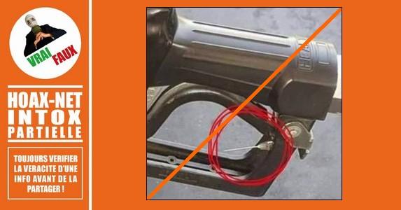 Mise au point sur les aiguilles placées aux poignées des pompes à essence.