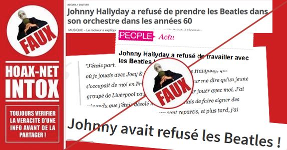 Non Johnny Hallyday n'a pas refusé les Beatles…
