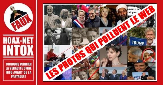 Photos Fake sur diverses personnalités publiques, qui polluent le web.