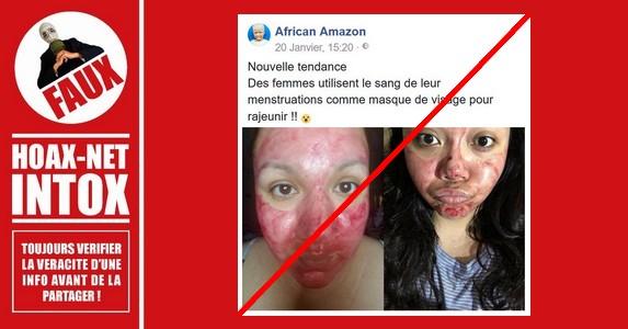 Non, les femmes n'utilisent pas le sang de leurs menstruations comme masque facial pour rajeunir.