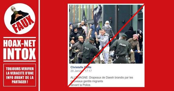 Non, ce ne sont pas des nouveaux migrants qui agitent le drapeau de l'état islamique