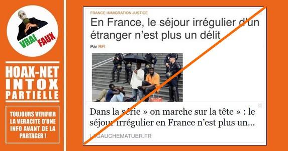 Mise au point sur «Le séjour irrégulier d'un étranger en France»